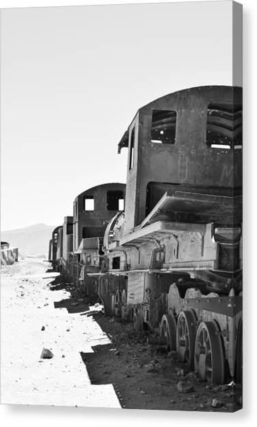 Uyuni Train Cemetery  Canvas Print