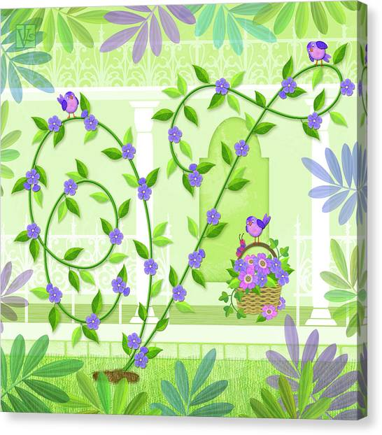 V Is For Vine And Veranda Canvas Print
