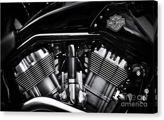 Street Rods Canvas Print - V Rod Muscle by Tim Gainey