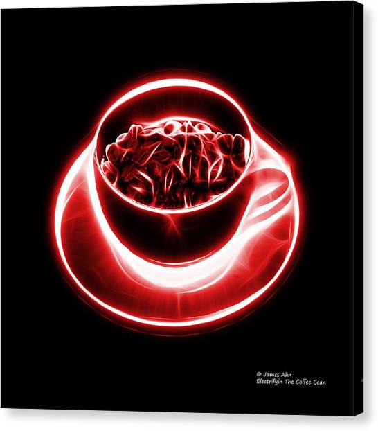 V2-bb-electrifyin The Coffee Bean-red Canvas Print