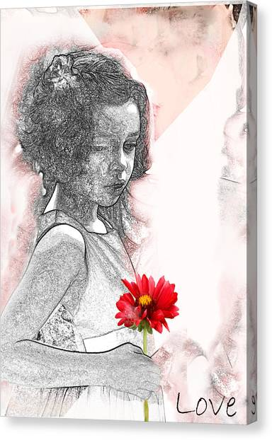 V2- I Thought Of You Canvas Print by Barbara  White