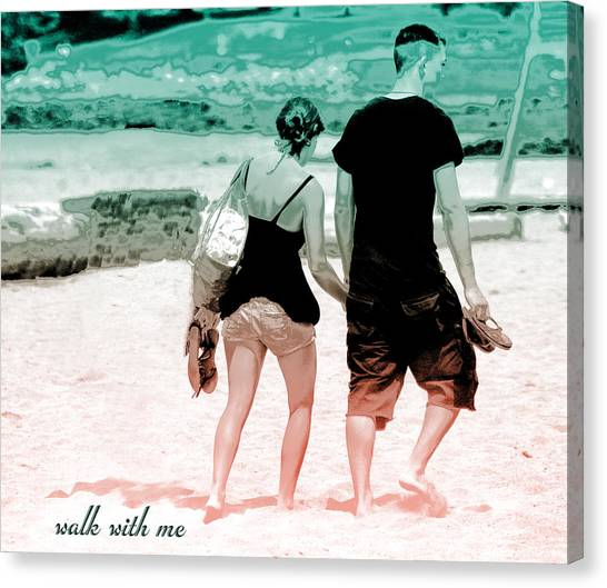 V7-walk With Me Canvas Print