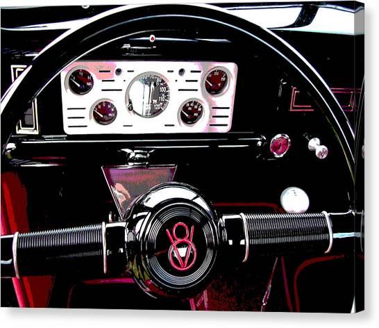 Canvas Print - V8 Dashboard by Audrey Venute
