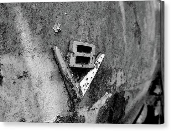 V8 Emblem Canvas Print