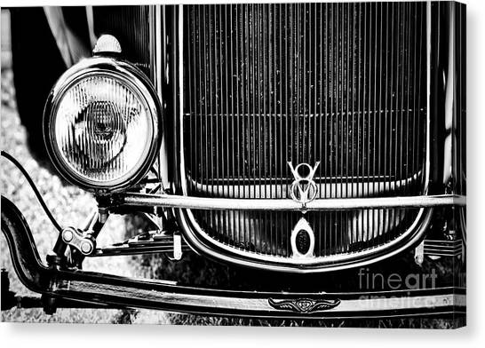 Street Rods Canvas Print - V8 Monochrome by Tim Gainey