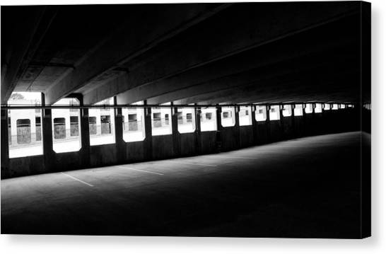 Vacant Parking Garage Canvas Print by Ahmed Hashim
