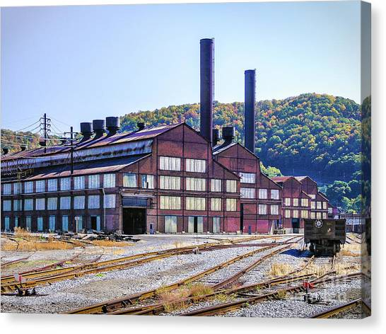 Vacant Steel Mill - Johnstown Pa Canvas Print
