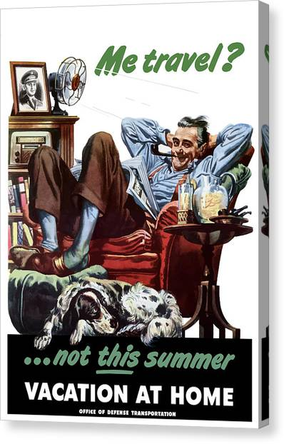 Conservation Canvas Print - Vacation At Home -- Ww2 Poster by War Is Hell Store