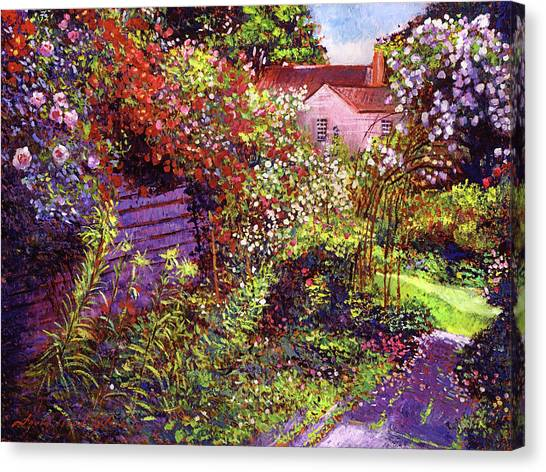 Tree Blossoms Canvas Print -  Vacation Garden by David Lloyd Glover