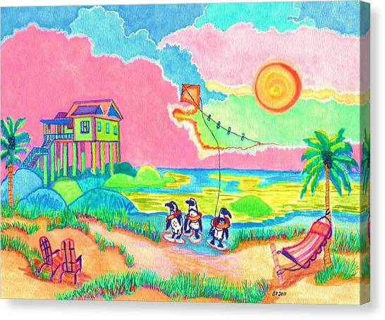 Vacation In The Sun Canvas Print