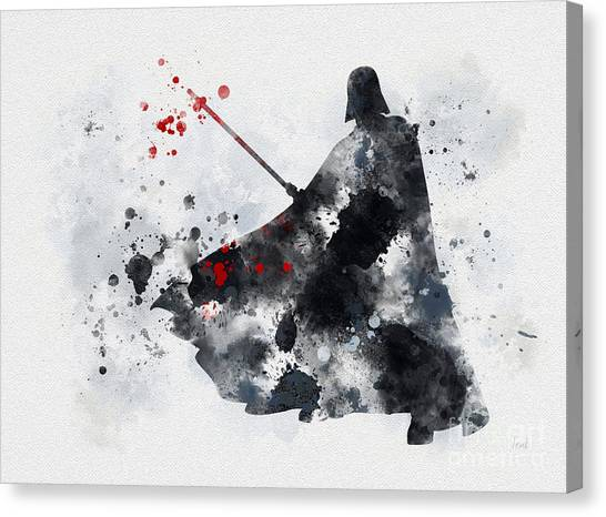 Movies Canvas Print - Vader by Rebecca Jenkins