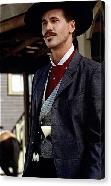 Val Kilmer As Doc Holliday Tombstone Set 1993-2015 Canvas Print