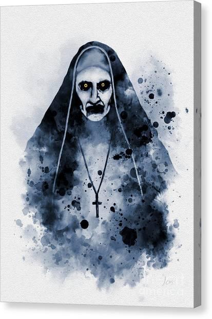 Nuns Canvas Print - Valak by Rebecca Jenkins
