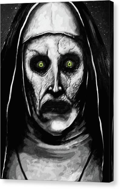 Nuns Canvas Print - Valak The Demon Nun by Zapista
