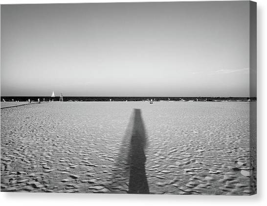 Ibiza beach canvas print valencia beach by pawel dobrowolski