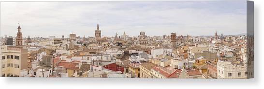 Valencia Panorama Canvas Print