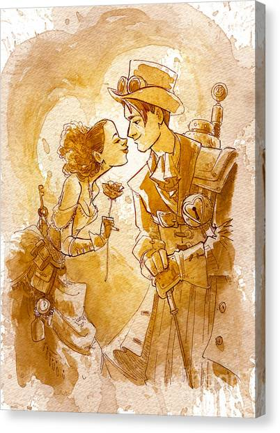 Love Canvas Print - Valentine by Brian Kesinger