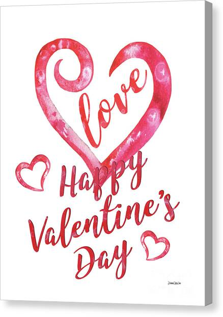 Heart Canvas Print - Valentine by Debbie DeWitt