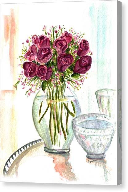 Valentines Crystal Rose Canvas Print