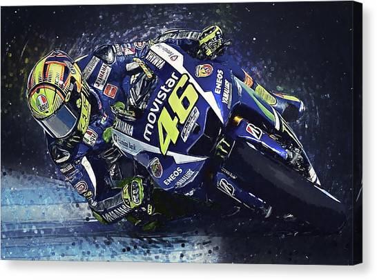 Ducati Canvas Print - Valentino Rossi by Taylan Soyturk