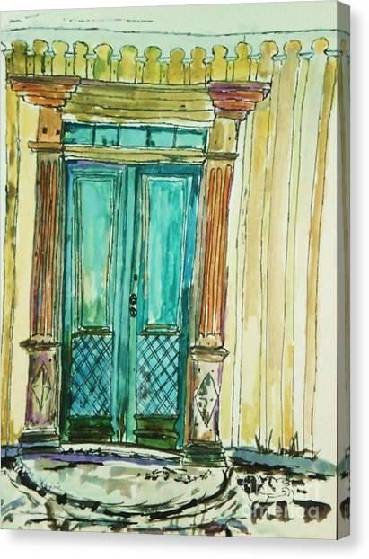 Valkommen Canvas Print by Helena Bebirian