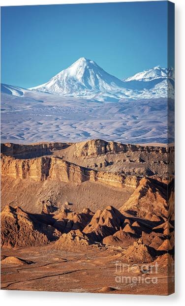 Andes Mountains Canvas Print - Valle De La Luna Atacama Desert by Delphimages Photo Creations