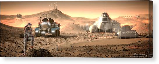 Canvas Print featuring the digital art Valley End Cam 34 by Bryan Versteeg