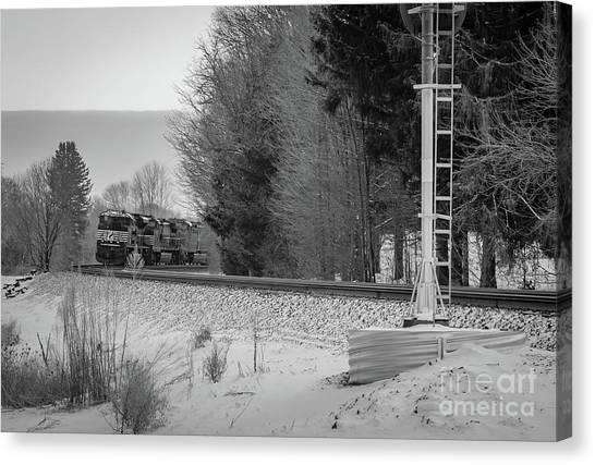 Valley Express Canvas Print by Darren Walker