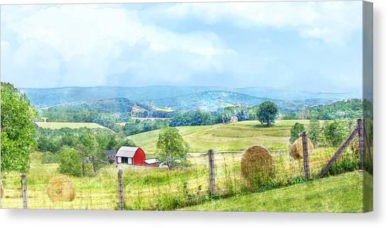 Valley Farm Canvas Print