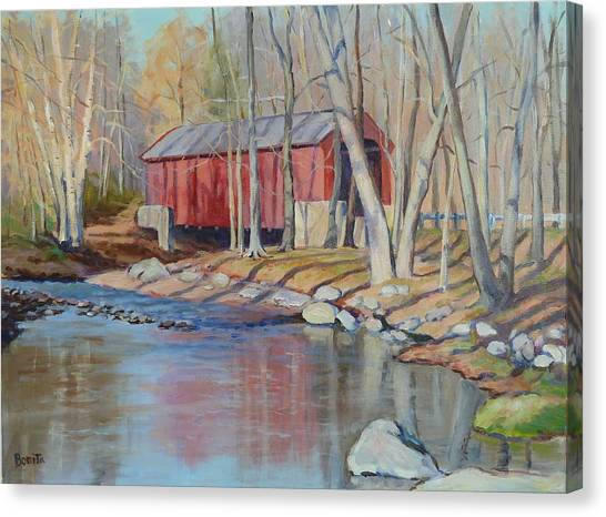 Valley Forge Covered Bridge Canvas Print