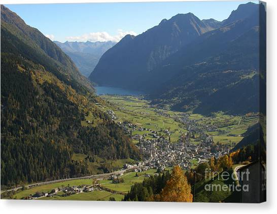 Valley In The Alps Canvas Print by Stan and Anne Foster