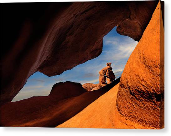 Valley Of Fire Look Through Canvas Print