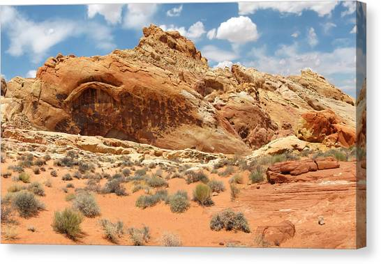 Valley Of Fire Canvas Print by Mary Lane