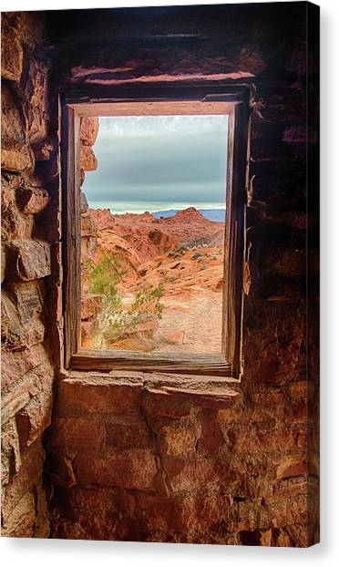 Valley Of Fire Window View Canvas Print