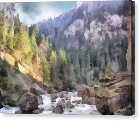 Valley Of Light And Shadow Canvas Print