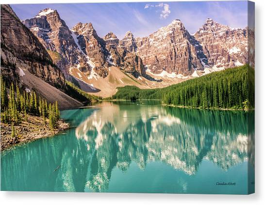Canvas Print featuring the photograph Valley Of Ten Peaks by Claudia Abbott
