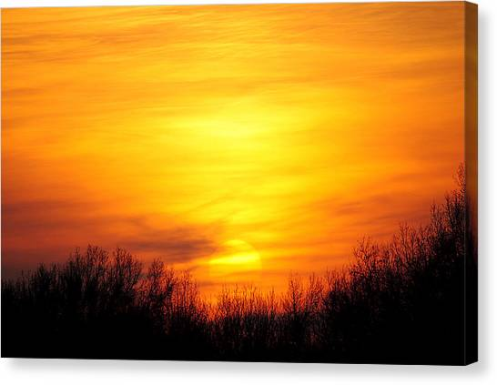Sunrise Horizon Canvas Print - Valley Of The Sun by Frozen in Time Fine Art Photography