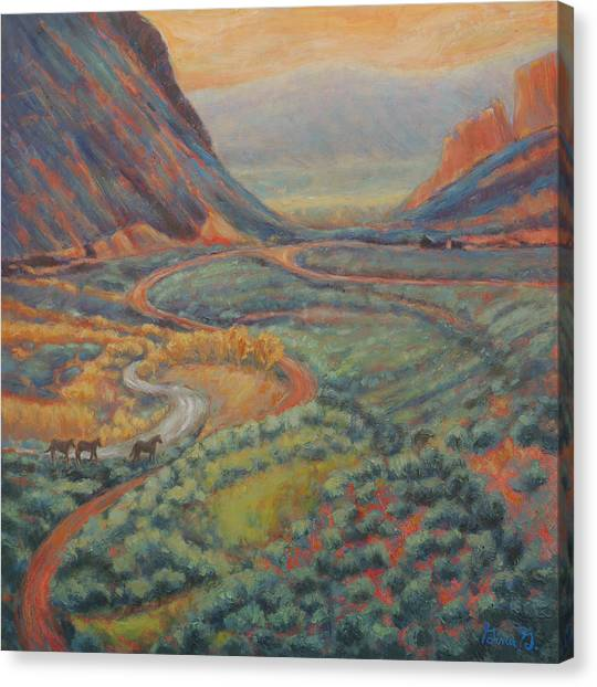 Valley Passage Canvas Print