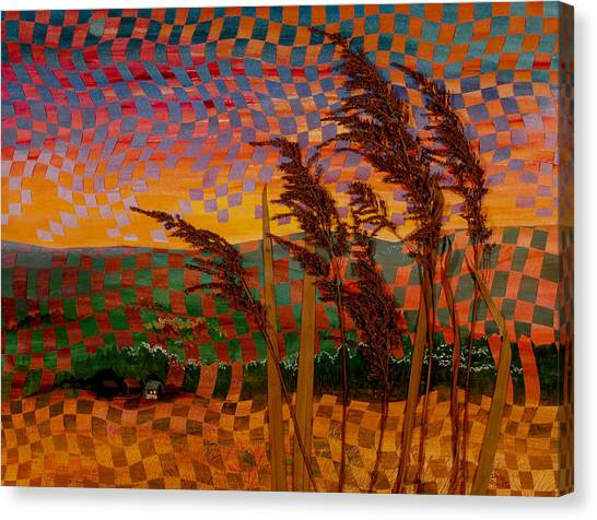 Valley Sunset Canvas Print by Linda L Doucette