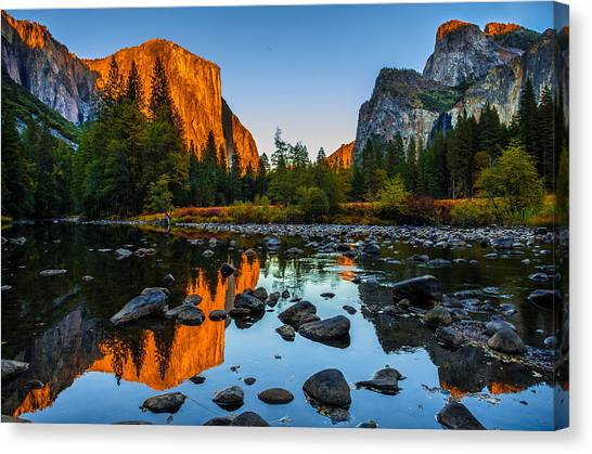 Cathedrals Canvas Print - Valley View Yosemite National Park by Scott McGuire