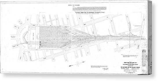 Valuation Map Washington Union Station Canvas Print