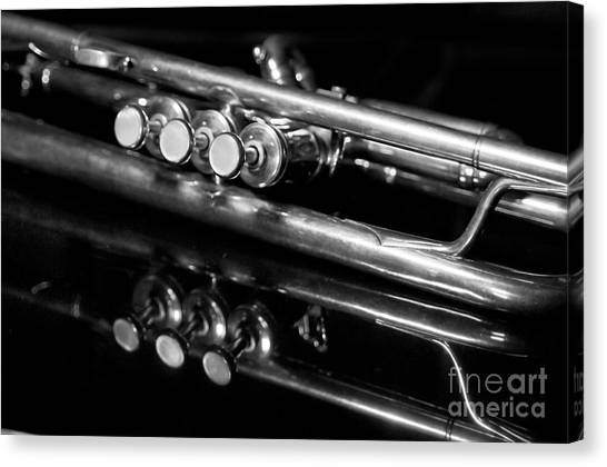 Trumpets Canvas Print - Valves by Dan Holm