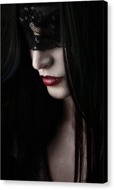 Gothic Art Canvas Print - Vampire Kiss by Cambion Art