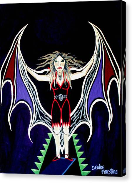 Vampire Lady Of Death Canvas Print by Deidre Firestone