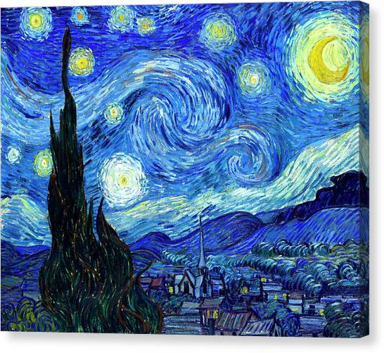 Dad Canvas Print - Van Gogh Starry Night by Vincent Van Gogh