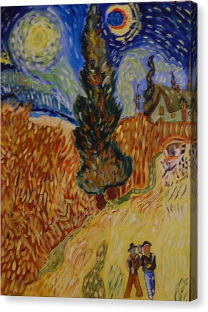 Van Gogh Study Canvas Print by Michele Edler