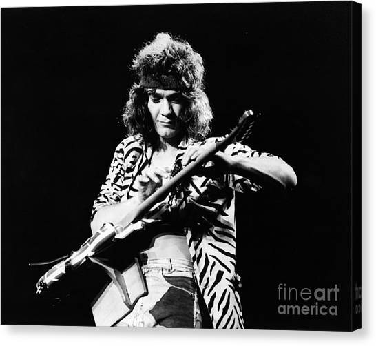 Eddie Van Halen  Canvas Print by Chris Walter