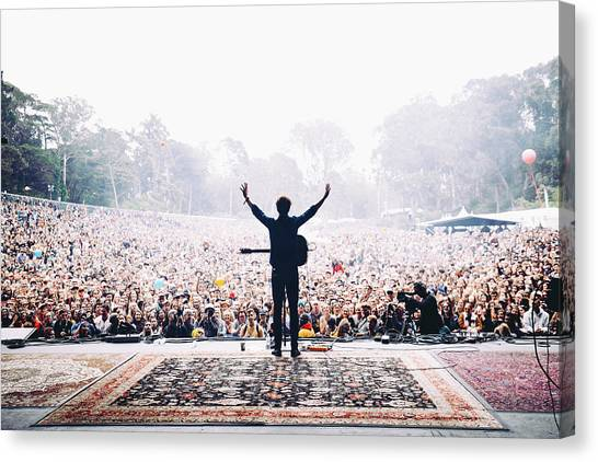 Concerts Canvas Print - Vance Joy - Outside Lands by Jack Gorlin