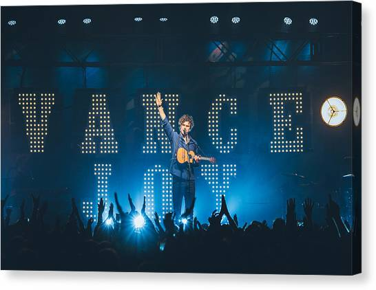 Taylor Swift Canvas Print - Vance Joy, Wallingford Ct by Jack Gorlin