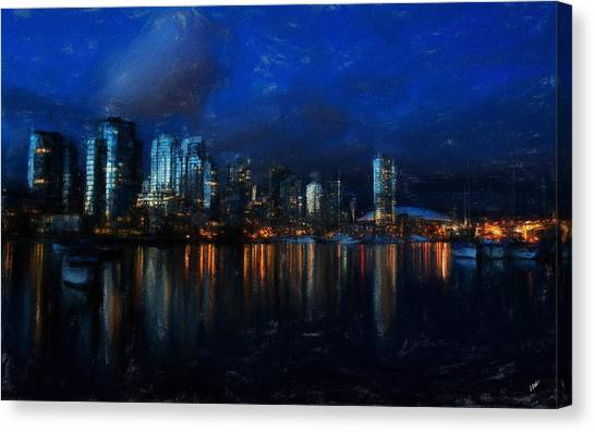 Vancouver At Dusk Canvas Print